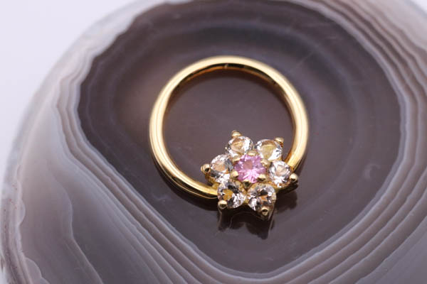 Handmade 18ct Gold Floret Seam-Ring